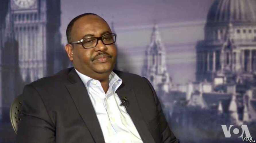 Newly-elected President of Somalia's Puntland region Saed Abdullahi Deni is seen in a screen grab from video during a recent interview with VOA's Somali Service in London.