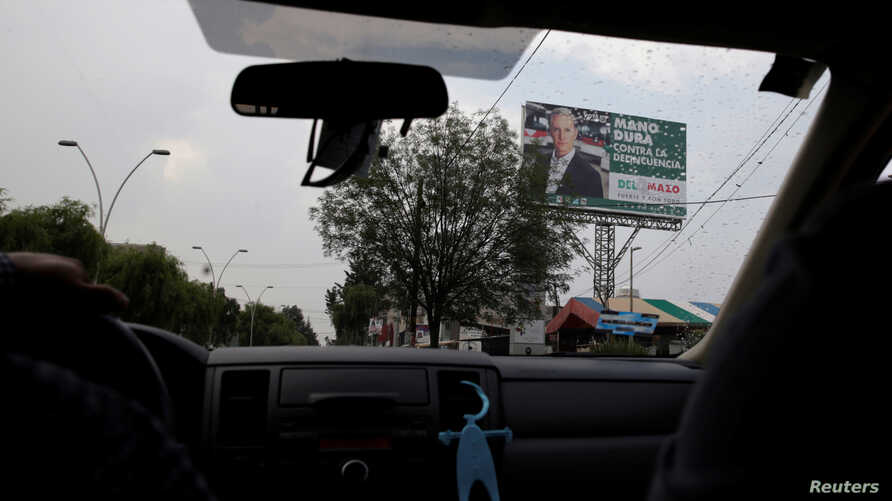 A billboard with the picture of Alfredo del Mazo of Institutional Revolutionary Party (PRI), candidate for governor of the State of Mexico, is seen in Metepec, State of Mexico, Mexico, May 16, 2017.