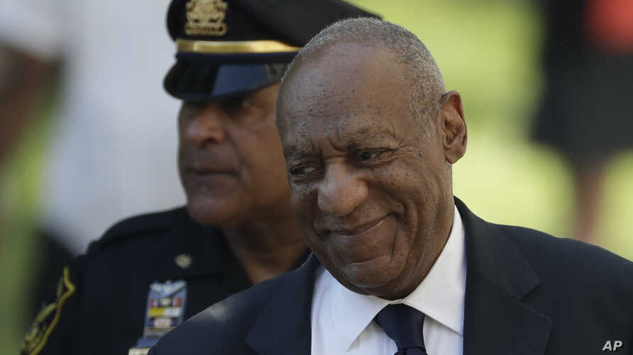 Bill Cosby arrives for his sexual assault trial at the Montgomery County Courthouse, June 13, 2017, in Norristown, Pa.