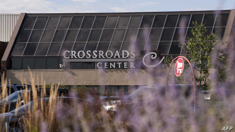 A view outside the Crossroads Center mall that reopens today has been closed since Saturday night when a man entered and stabbed nine people on Sept. 19, 2016 in St Cloud, Minnesota.