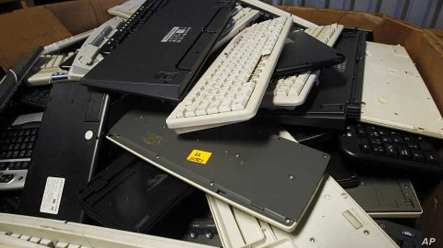 Discarded computers (file photo)