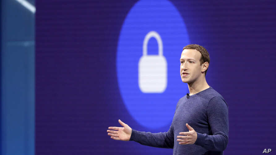 FILE - Facebook CEO Mark Zuckerberg speaks at a Facebook developer conference in San Jose, California, May 1, 2018.