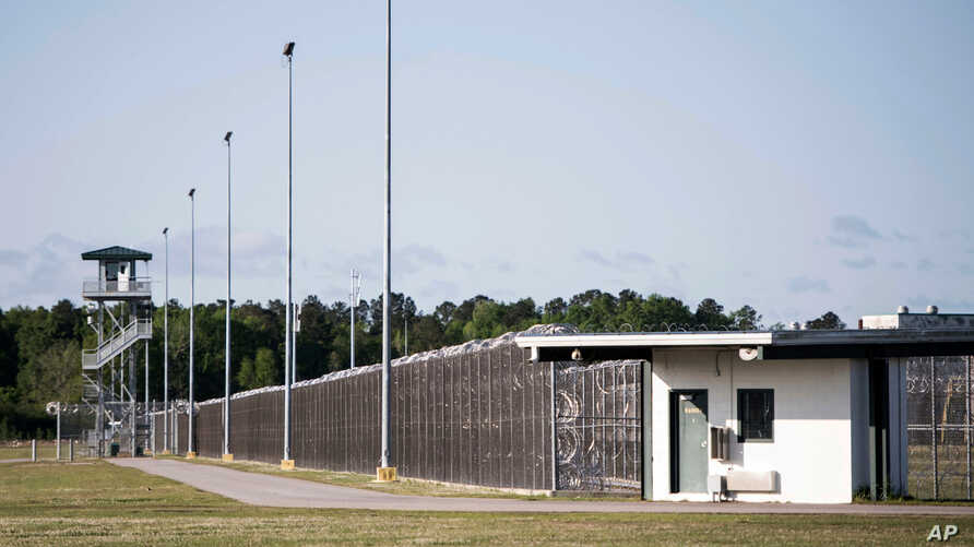 FILE - This April 16, 2018 photo shows the Lee Correctional Institution in Bishopville, S.C. In 2018, seven inmates at the maximum-security prison were killed in what officials have said was a gang fight over territory and contraband including cellph