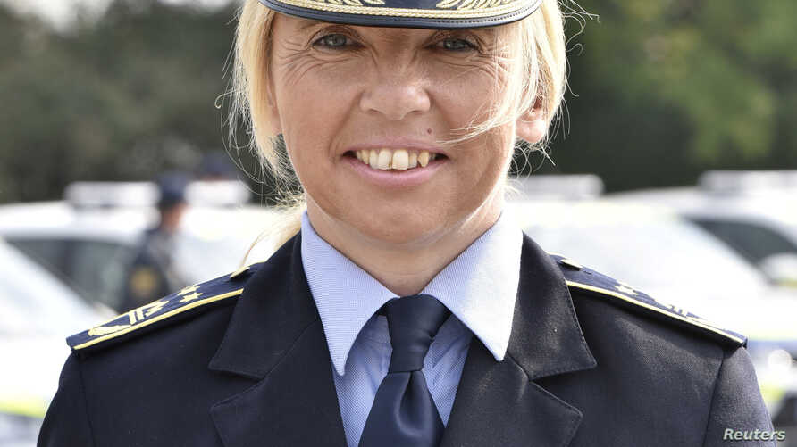 Tatjana Bobnar, newly appointed as chief of the Slovenian police, poses for a picture in Ljubljana, Slovenia, Oct. 18, 2018.