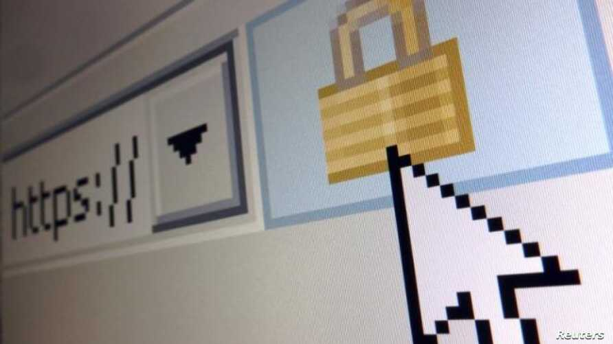 A lock icon, signifying an encrypted Internet connection, is seen on an Internet Explorer browser in a photo illustration in Paris, April 15, 2014.