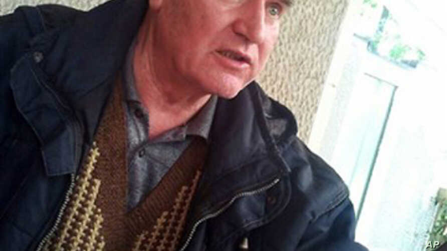 Bosnian Serb army commander Ratko Mladic, who was arrested Thursday, May 26, 2011, is seen at an undisclosed location at an unknown time after his arrest in Serbia after years in hiding, May 30, 2011