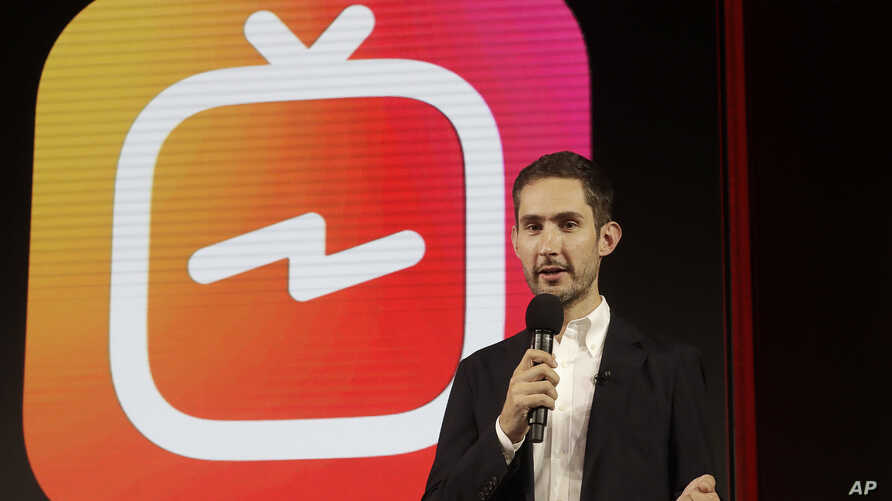Kevin Systrom, CEO and co-founder of Instagram, prepares for Wednesday's announcement about IGTV in San Francisco, June 19, 2018. Facebook's Instagram app is loosening its restraints on video with a new channel that will attempt to lure younger viewe
