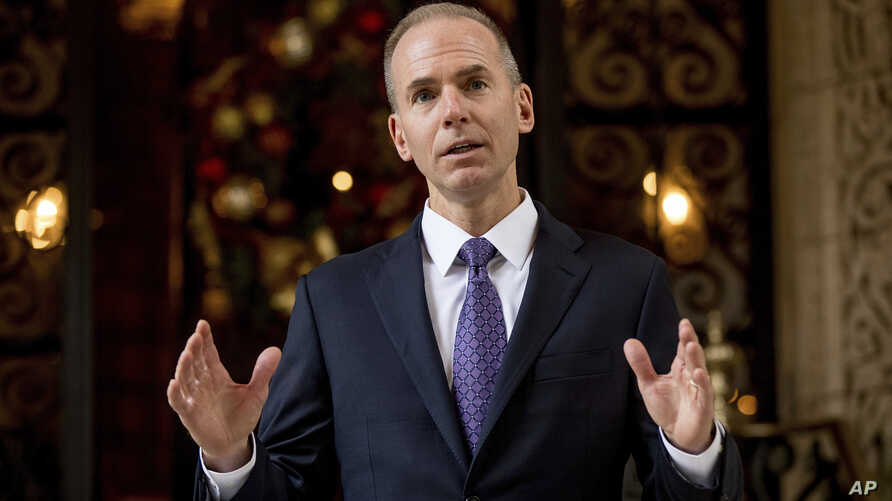 """President-elect Donald Trump was """"very impressed"""" with Dennis Muilenburg after meeting with the Boeing CEO in Palm Beach, Florida, Dec. 21, 2016."""