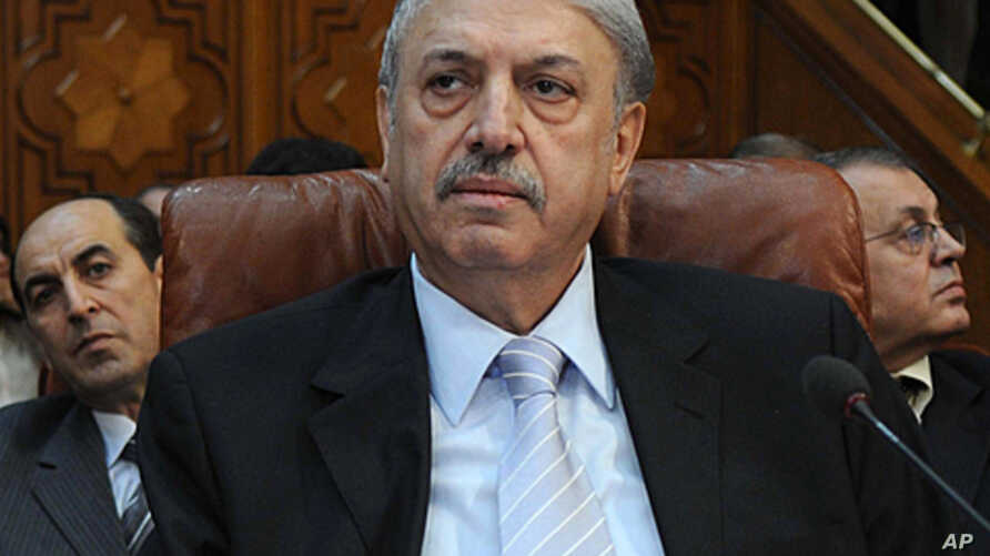 Yussef al-Ahmad, Syria's ambassador to the Arab League, attends a ministerial meeting at the organization's Cairo headquarters, November 2, 2011.