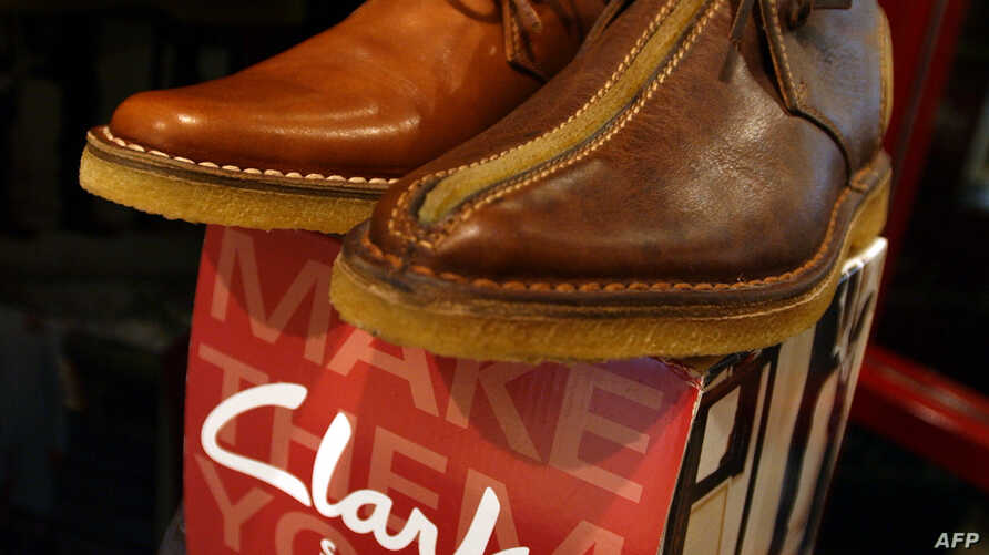 A pair of Clarks shoes is seen in December 2005. A effort aiming to improve conditions for homeworkers saw Britain-based Pentland Brands — the first company to map homeworkers in its supply chain — share their interventions with other participating b