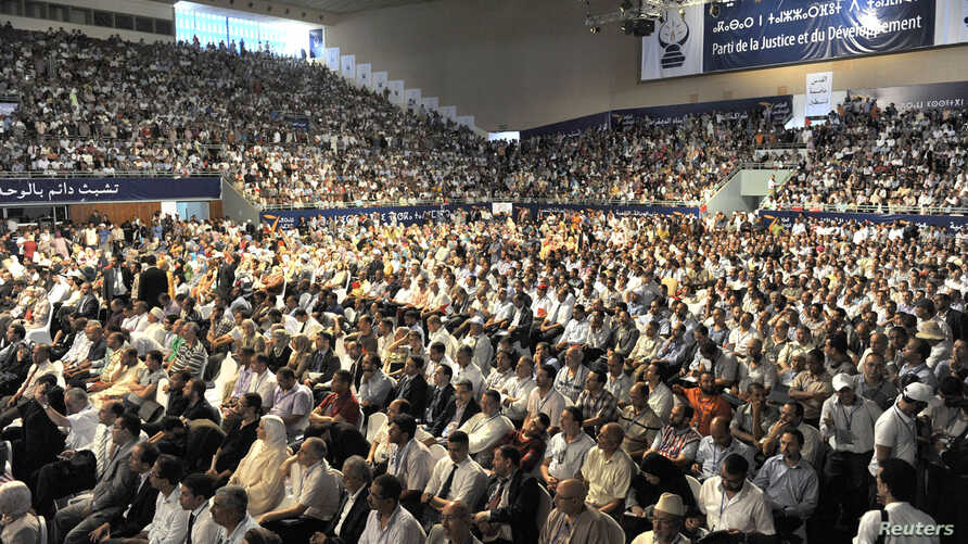 More than 2,000 people attend the opening of the first congress of Morocco's ruling party since the moderate Islamists won the November polls which took place under the theme of good governance in Rabat, July 14, 2012.