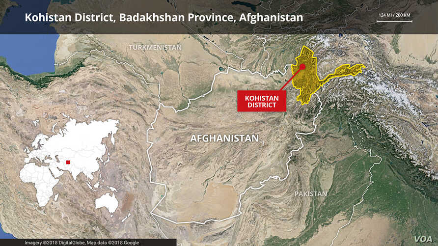 Kohistan District, Badakhshan Province in Afghanistan