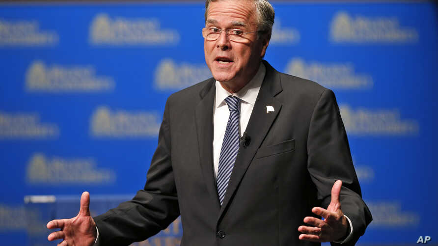 Republican presidential candidate Jeb Bush speaks during a Presidential candidate forum at Regent University in Virginia Beach, Va, Oct, 23, 2015.