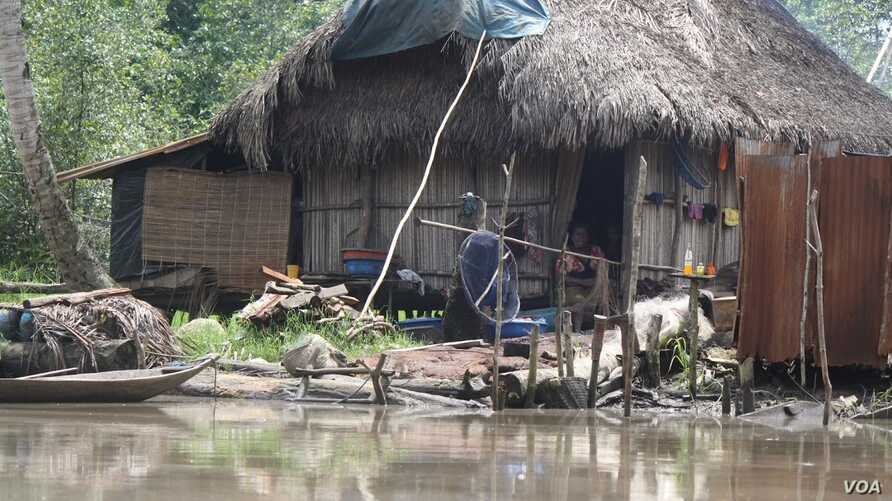 Most of the Niger Delta's 31 million residents live on less than $1 a day in the countryside and analysts say poverty will increase if rural schools are not improved, Niger Delta, November 2012. (H. Murdock/VOA)
