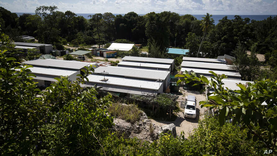 FILE - The Nibok refugee settlement on Nauru, Sept. 4, 2018. Australia announced Feb. 3, 2019, that the last child refugees held on the Pacific atoll would soon the sent to the United States, ending the banishment of children under the government's h