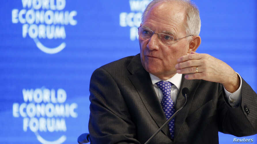 Wolfgang Schaeuble, German Minister of Finance attends the World Economic Forum (WEF) annual meeting in Davos, Switzerland, Jan. 20, 2017.
