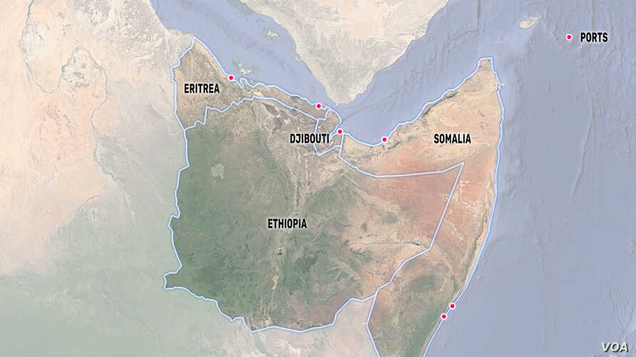 A Map of Ports in the Horn of Africa