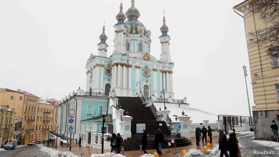 A general view shows the Saint Andrew's Church in Kyiv, Ukraine, Nov. 15, 2018.