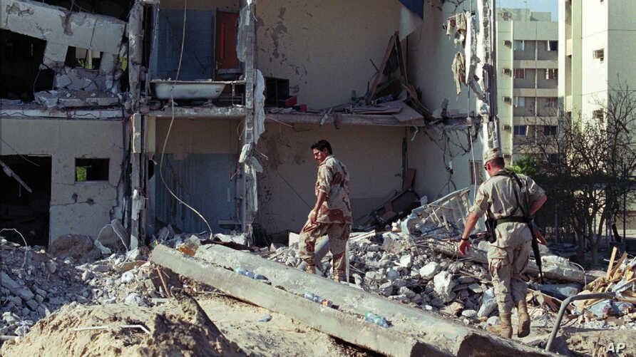 FILE – Days after the June 25, 1996, truck bombing of a ho