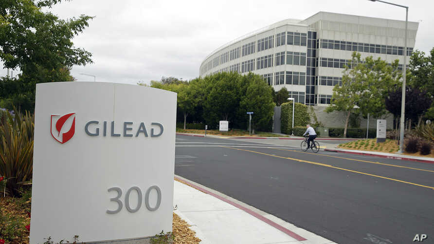 The headquarters of Gilead Sciences in Foster City, California, in Juy 2015.