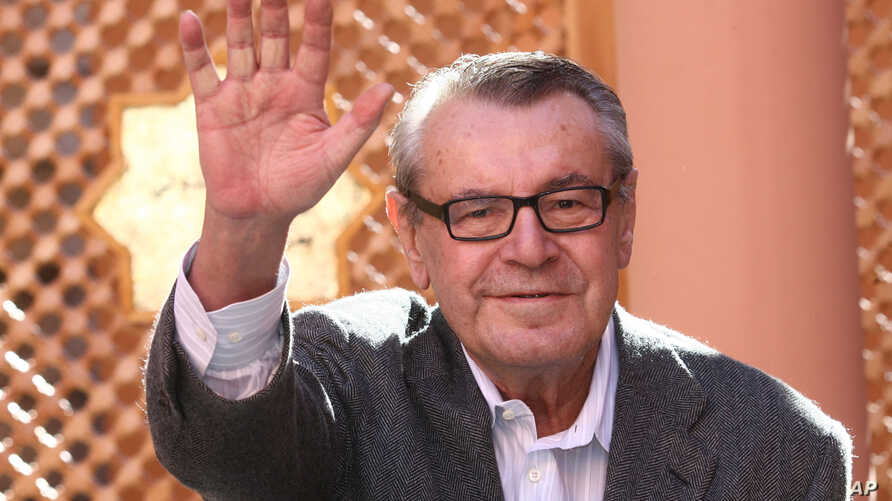 FILE - Czech-born filmmaker Milos Forman poses during a photo call on the second day of the Marrakesh 7th International Film Festival, Dec. 8, 2007 in Marrakesh.