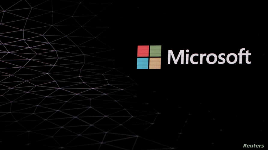 The Microsoft logo is pictured ahead of the Mobile World Congress in Barcelona, Spain, Feb. 24, 2019.