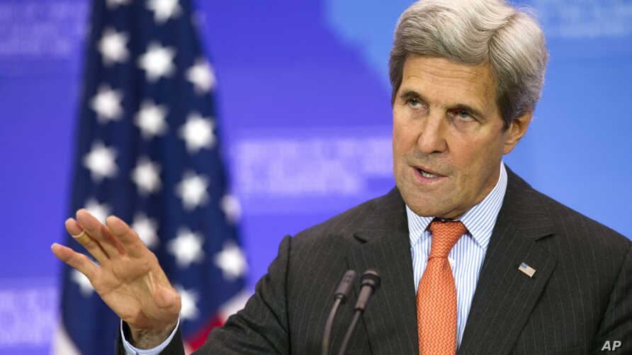 Secretary of State John Kerry holds a news conference at the conclusion of the Meeting of the Ministers of the Global Coalition to Counter ISIL at the State Department in Washington, July 21, 2016.
