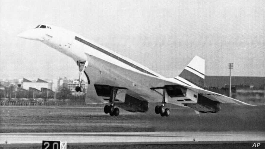 The Concorde supersonic airliner, a joint British-French venture, takes off at Toulouse-Blagnac airport, March 2, 1969, at Toulouse, France, in its maiden flight.