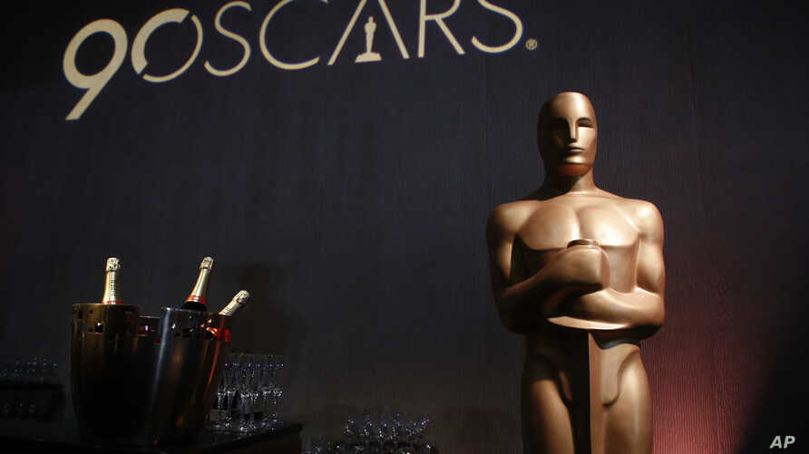 An Oscar statue appears in the ballroom during the 89th Academy Awards Nominees Luncheon at The Beverly Hilton Hotel, Feb. 5, 2018, in Beverly Hills, California.