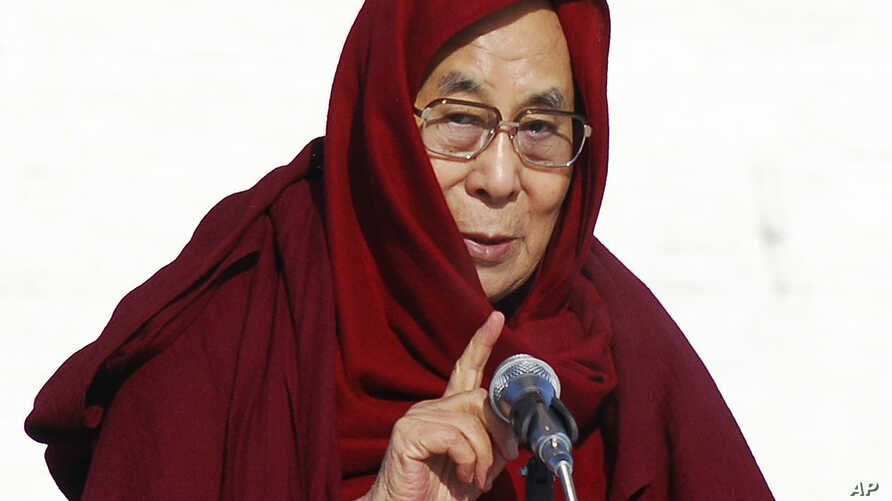 """FILE - The Dalai Lama, seen here in this Nov. 19, 2016, file photo, says he has """"no worries"""" about Donald Trump's election as U.S. president and expects the businessman will align his policies with global realities."""
