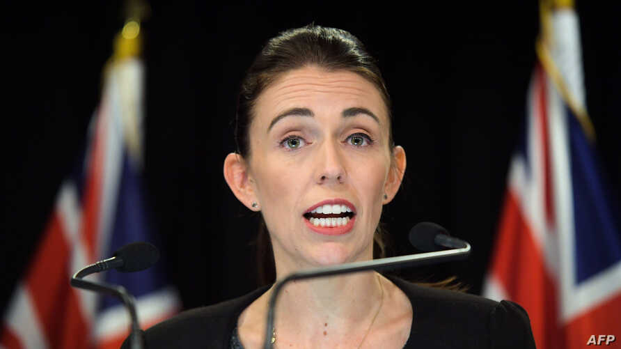 New Zealand Prime Minister Jacinda Ardern speaks to the media during a Post Cabinet media press conference at Parliament in Wellington on March 18, 2019.