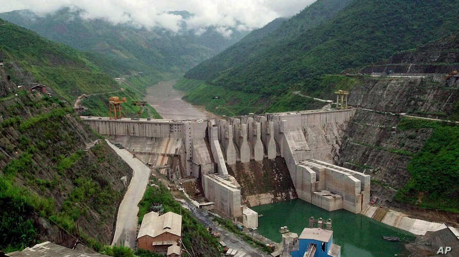 FILE - The Dachaoshan dam on the upper Mekong River is pictured in Dachaoshan, Yunnan province, China.