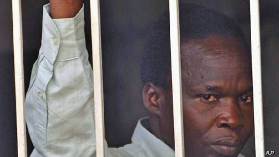 Thomas Kwoyelo, a former director of field operations in the rebel group Lord's Resistance Army is seen at a detention center in Kampala, November 10, 2011.