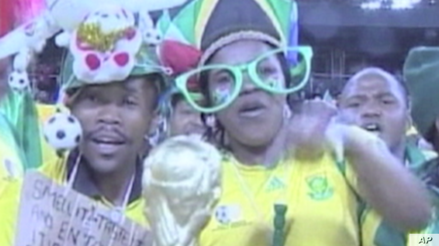 South African fans lead the way in global World Cup fever.
