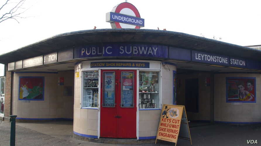 The Leytonstone underground station in east London is seen in this 2008 photo.