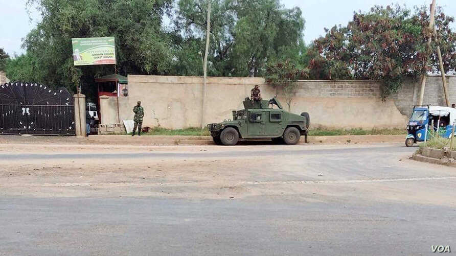 Liyu police are seen on a street in Jijiga, Somali region, Ethiopia, in an undated photo published on Twitter by Addis Standard (@addisstandard). Not independently verified by VOA.