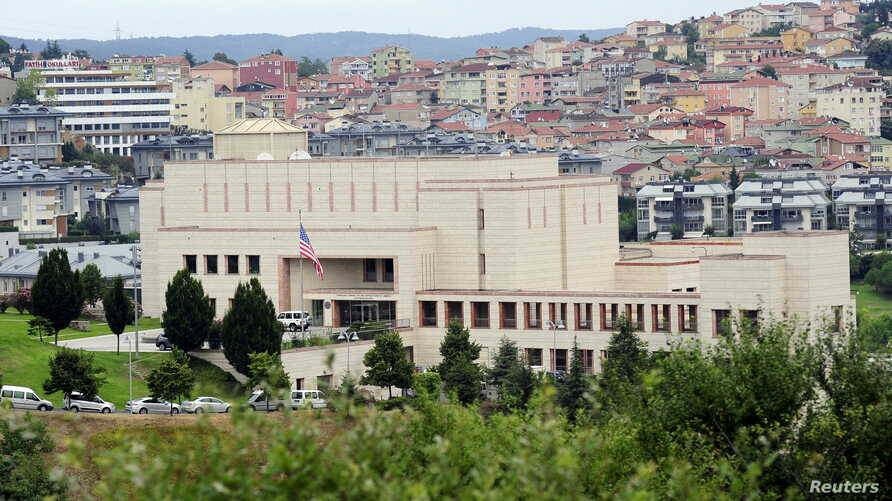 FILE - The U.S. consulate building is pictured in August 2015 in Istanbul, Turkey.