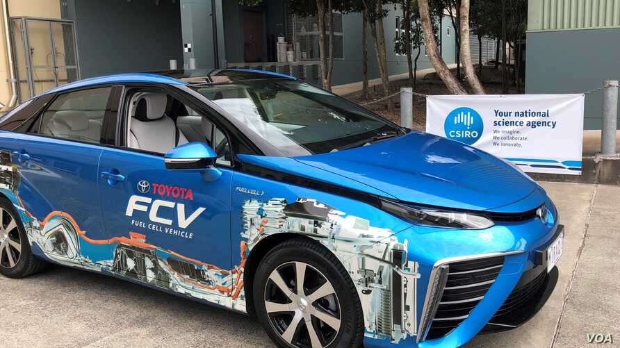 A Toyota Mirai fuel cell vehicle is shown ready to be fueled with CSIRO-produced hydrogen. (Source - CSIRO)
