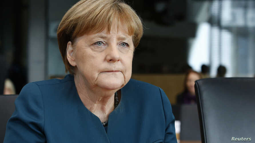 German Chancellor Angela Merkel arrives to testify before a parliament inquiry committee in Berlin, Germany, March 8, 2017.