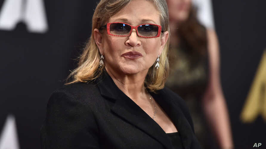 Carrie Fisher arrives at the Governors Awards at the Dolby Ballroom, Nov. 14, 2015, in Los Angeles.
