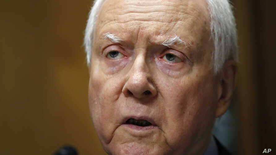 Chair of the Senate Finance Committee Sen. Orrin Hatch, R-Utah, speaks during a committee hearing on tariffs with testimony from Secretary of Commerce Wilbur Ross, on Capitol Hill, June 20, 2018 in Washington.