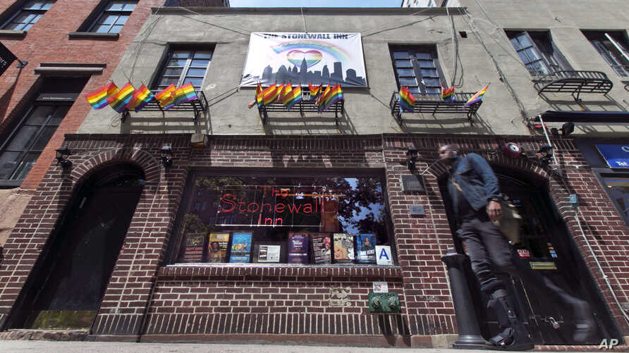 FILE - The Stonewall Inn, in New York's Greenwich Village.