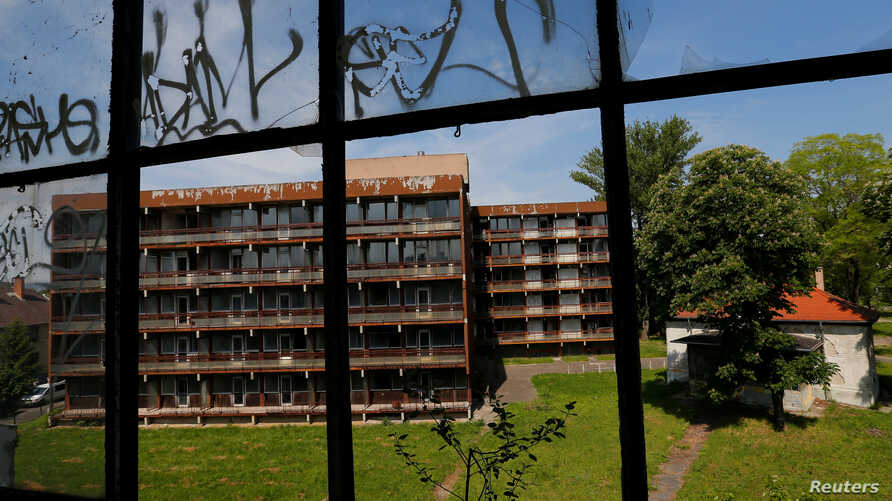 Apartments used by Russian soldiers and doctors are seen at a former Soviet military hospital, which lies derelict since 1991 when the last Russian troops left Hungary, in Budapest, Hungary, May 15, 2017.