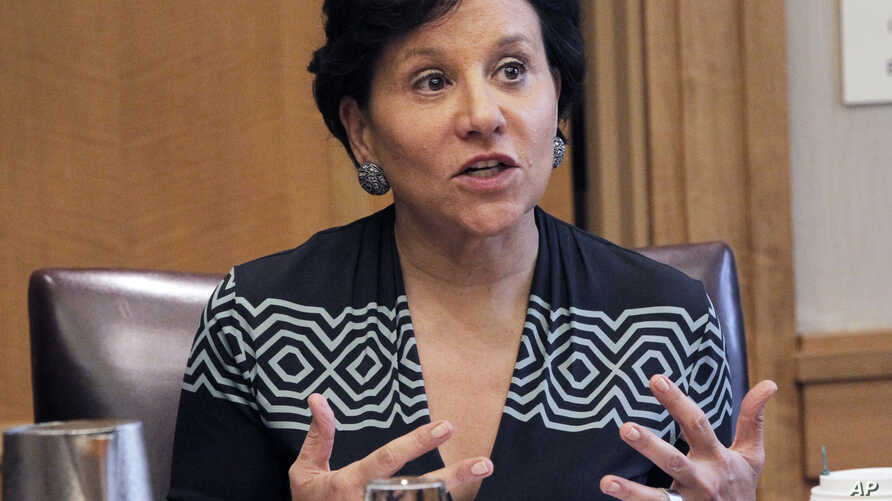 FILE - U.S. Secretary of Commerce Penny Pritzker.