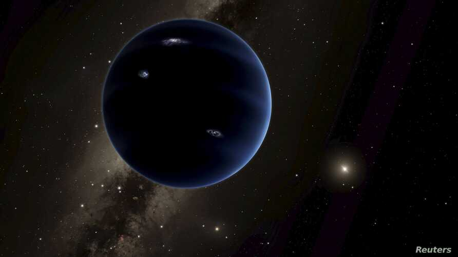 """An artist's rendering shows the distant view from """"Planet Nine"""" back towards the sun, in this handout photo provided by the California Institute of Technology (Caltech) in Pasadena, California, Jan. 20, 2016."""