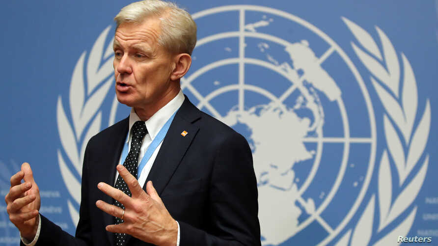 Jan Egeland, United Nations senior advisor of the Special Envoy for Syria gives an interview to Reuters in Geneva, Switzerland, Nov. 29, 2018.