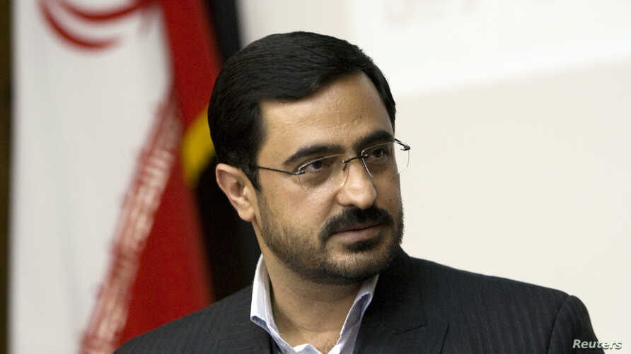 FILE - Tehran Prosecutor General Saeed Mortazavi speaks to journalists during a news conference in Tehran April 19, 2009.