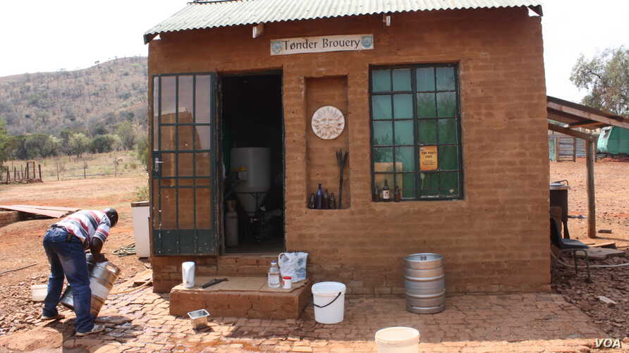 """Craft breweries are popping up all over South Africa. Dirk van Tonder's rustic """"beer farm"""" in South Africa's Northwest Province is one of more than 70 breweries specializing in revolutionary new beer flavors. (Photo Credit: Darren Taylor)"""