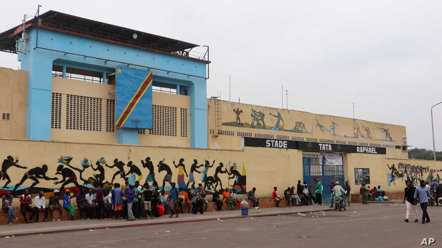 A scene outside Tata Raphael Stadium in Kinshasa, D.R.C., June, 4, 2016. The stadium is where Muhammad Ali and George Foreman fought in October 1974.