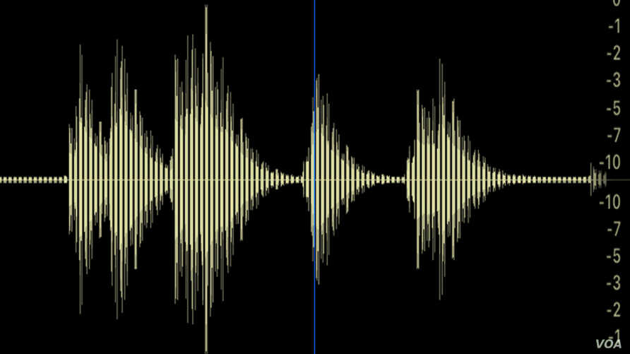A generate waveform image from an audio file, Sunday, Jan. 7, 2018. (Photo: Diaa Bekheet)